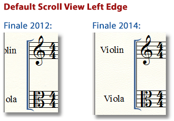 Default Scroll View Positioning Example